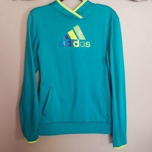 Adidas climawarm teal hoodie